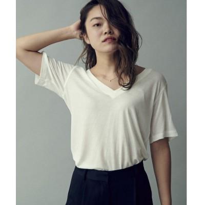 tシャツ Tシャツ SARO KNIT TEE | ニットTシャツ
