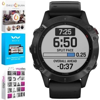 ガーミン・ Garmin Fenix 6 Multisport GPS Smartwatch Fitness & Wellness Suite Bundle 輸入品