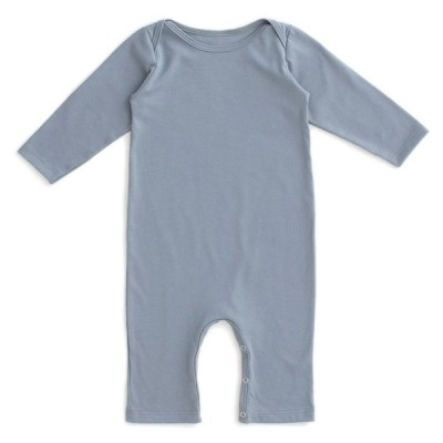 [20%OFF] From Brooklyn winter water factory Long Sleeve Romper - Solid Slate Blue ロンパース 70/80
