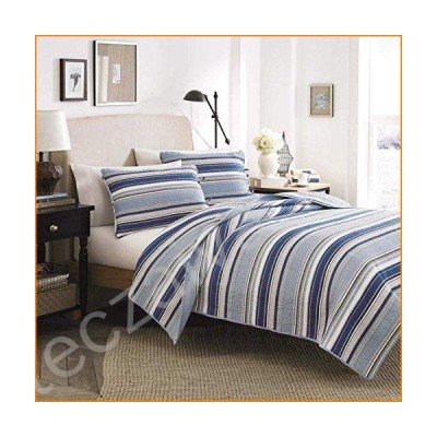 Stone Cottage Fresno Cotton Quilt Set, Twin, Blue【並行輸入品】