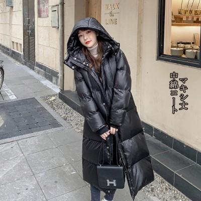 中綿コート ロングコート キルティングコート 中綿 レディース 軽量 チェスターコート 冬 40代 アウター ロング 暖かい 体型カバー 大きいサイズ 黒 ゆったり