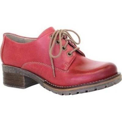 ドロミダリス Dromedaris レディース ローファー・オックスフォード シューズ・靴 Kaley Lug Sole Oxford Red Leather