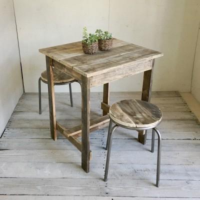プチテーブル 木製テーブル 二人掛けテーブル リサイクルウッド 送料無料