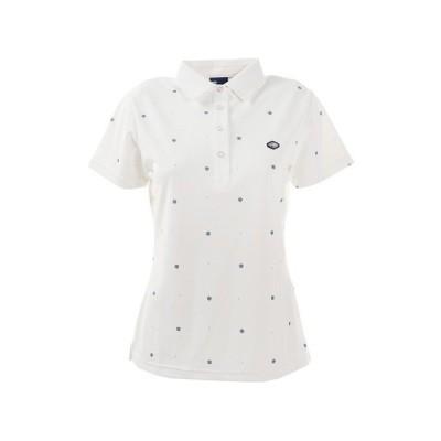 フィドラ(FIDRA) ゴルフ ポロシャツ レディース 小紋プリントポロ E20 FD5HUG60 WHT (レディース)