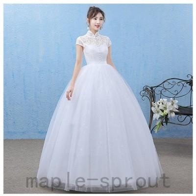 ウェディングドレスカラードレス大きいサイズロング二次会花嫁発表会結婚式