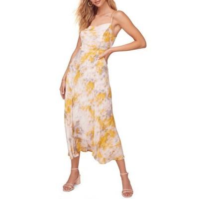 アストール ワンピース トップス レディース Journey Sleeveless Printed Maxi Dress Lemon-Pink Tie Dye