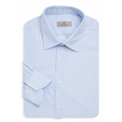 カナリ Men Clothing Striped Cotton Dress Shirt