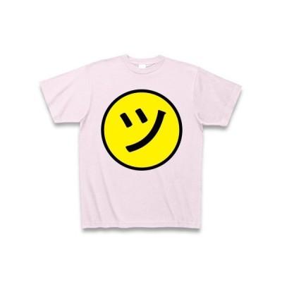ニコ「ツ」ちゃんマーク Tシャツ Pure Color Print(ピーチ)