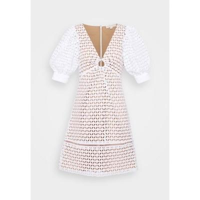 マイケルコース ワンピース レディース トップス GEO EYELET MINI DRESS - Day dress - white