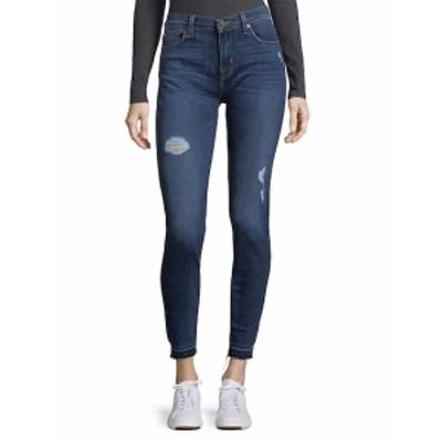 ハドソン レディース パンツ デニム Buttoned Distressed Ankle Jeans