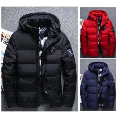ダウンジャケット 中綿ブルゾン 大きいサイズ キングサイズ メンズ フード付き 花柄 アウター 防寒 厚手 暖かい コート 防風 冬物 ゆったり