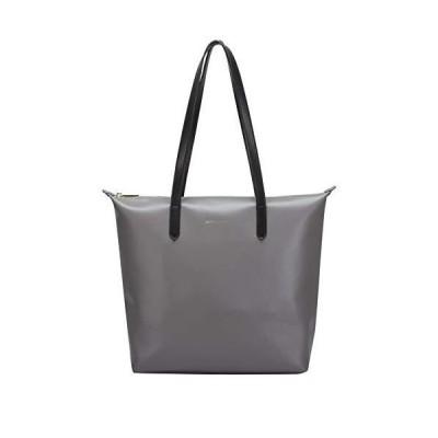Smith & Canova Womens Twin Strap Zip Top Tote Bag Tote Grey (Grey) 並行輸入品