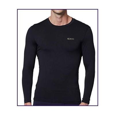 EXIO Japan Men's Compression Shirt Cool&Dry Baselayer/Underlayer Long Sleeve Top EX-R01 (X-Large, EXR01-BK)【並行輸入品】