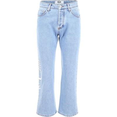 エムエスジーエム ジーンズ パンツ デニム レディースMSGM Riviera Resort Club JeansLIGHT BLUE DENIM|Blu