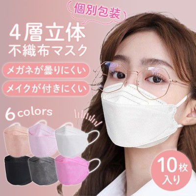 KF94 マスク 個包装 20枚入り 不織布マスク 血色マスク 3D 立体