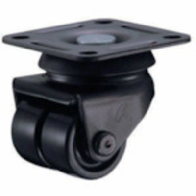 トラスコ中山 tr-1251406 ハンマー 低床中荷重用旋回式ナイロン車輪 38mm (tr1251406)