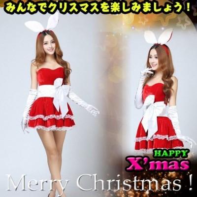 入荷済み 先行クリスマス 仮装 コスプレ コスチューム 可愛い サンタクロース レディース ワンピース サンタ 変装 フェイクファー飾り