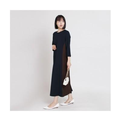 MARTHA(マーサ)サイドプリーツポンチワンピース (ワンピース)Dress