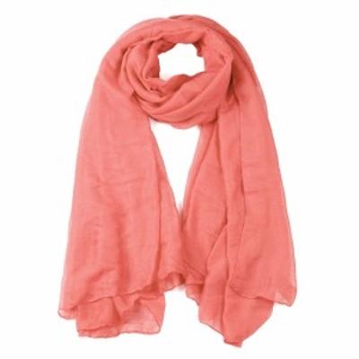 uxcell ショール 柔らかい 軽量 ロングスカーフ 男女兼用 淡いピンク-1 185x124cm