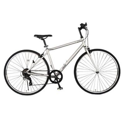 クロスバイク 27インチ 自転車 COGHORN 7段変速ギア コグホーン シルバー