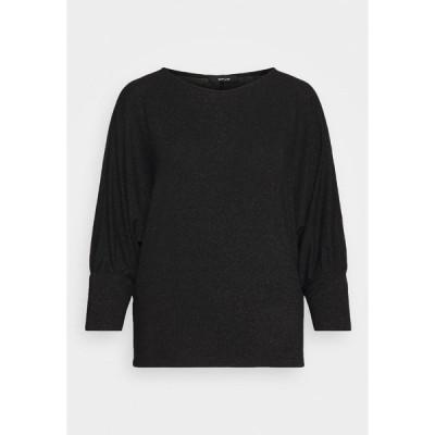 オーパス カットソー レディース トップス SITZA - Long sleeved top - black