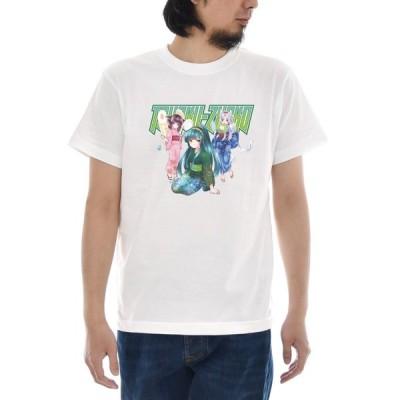 東北ずん子 三姉妹 Tシャツ 半袖Tシャツ メンズ レディース 大きいサイズ 東北 ずん子 イタコ きりたん 宮城 青森 秋田 石巻 可愛い 女子 S M L XL 3L 4L TZ-018