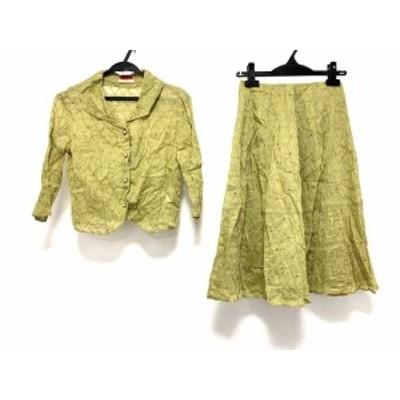 シビラ Sybilla スカートセットアップ レディース ライトグリーン 刺繍【中古】20200616