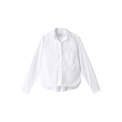Frank&Eileen フランク&アイリーン SILVIO LIMITED EDITION イタリアンコットン ホワイトシャツ レディース ホワイト XS