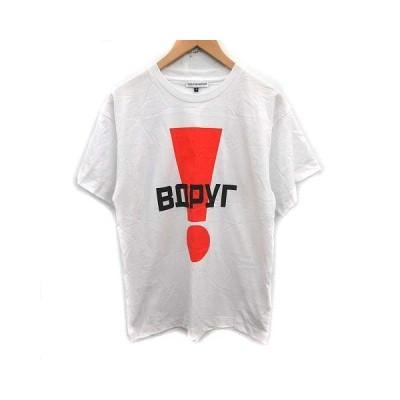 【中古】ロワ rowa py64nhcknn Tシャツ カットソー Bopyr プリント 半袖 S 白 ホワイト オレンジ /YM メンズ 【ベクトル 古着】