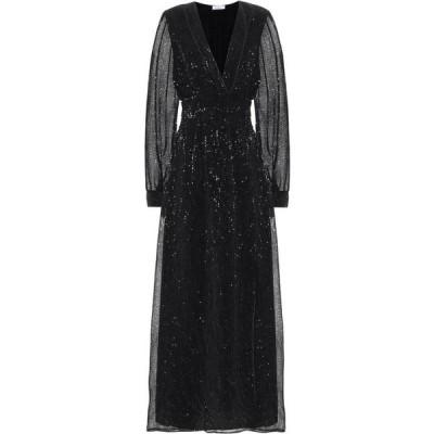オセリー Oseree レディース ワンピース マキシ丈 ワンピース・ドレス Exclusive to Mytheresa - Sequined satin maxi dress Black