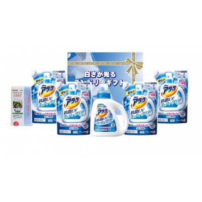 洗剤ギフト 白さが光るランドリーギフトEA-40(花王 アタック スーパークリアジェル抗菌EX)アタック洗剤 ギフトセット のし包装無料