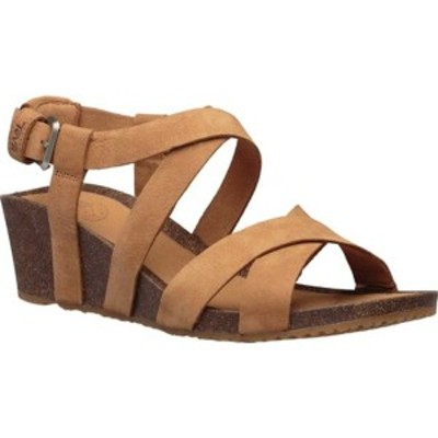テバ レディース サンダル シューズ Mahonia Wedge Cross Strap Sandal Chipmunk Leather