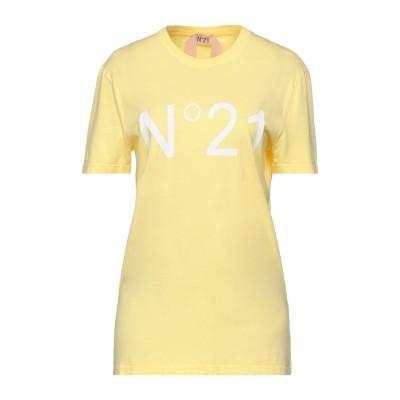 ヌメロ ヴェントゥーノ N°21 T シャツ イエロー 36 コットン 100% T シャツ