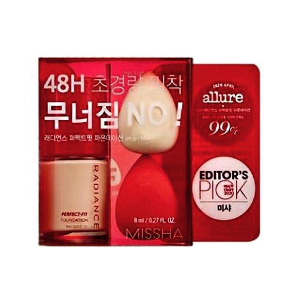 韓國 Missha 迷你版無瑕粉底液8ML 贈美妝蛋2顆【特價】異國精品