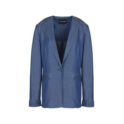 エンポリオ アルマーニ EMPORIO ARMANI テーラードジャケット ブルー 44 テンセル 100% テーラードジャケット