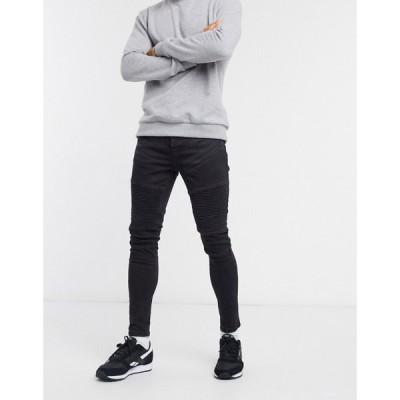 ブレイブソウル Brave Soul メンズ ジーンズ・デニム ボトムス・パンツ biker jeans in charcoal チャコール