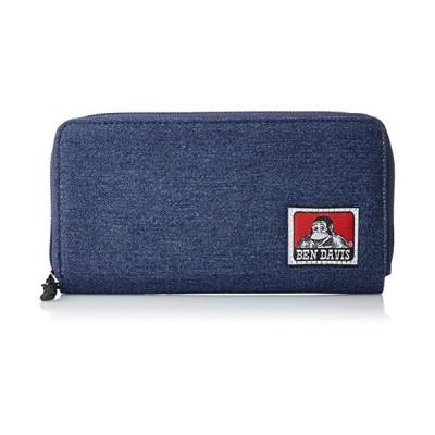 [ベンデイビス] 財布 長財布 メンズ ロングウォレット ラウンドファスナー ブランドタグ付き BDW-9194 デニム