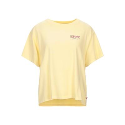 LEVI' S T シャツ ライトイエロー L コットン 100% T シャツ
