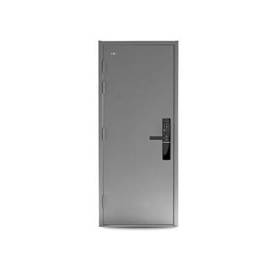 """[新品]VIZ-PRO Quick Mount Steel Security Door with Smart Lock, Remote Control, Gray Right Side-Hinged Outward, 36"""" Door Slab"""