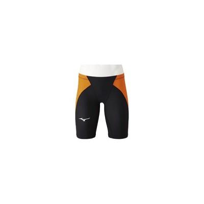 mizuno/ミズノ  競泳水着 MX・SONIC α ハーフスパッツ XLサイズ ブラック×オレンジ N2MB0011-95