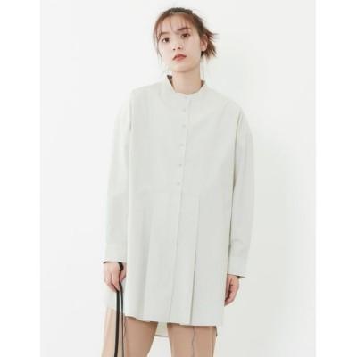 【プードゥドゥ】 ビブヨークタックチュニックシャツ レディース ライト グリーン M POU DOU DOU