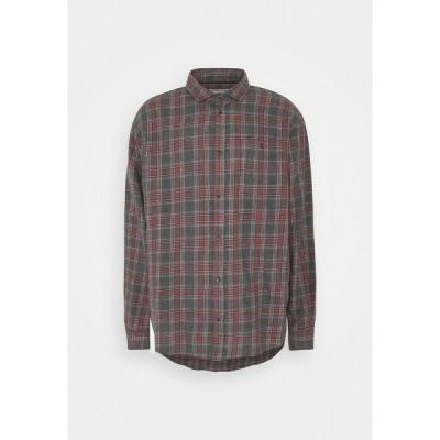 ピアワン シャツ メンズ トップス Shirt - mottled grey/coral