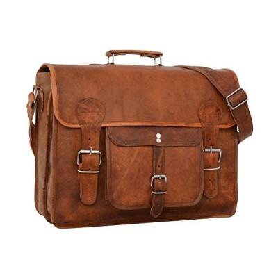 """Gusti Shoulder Bag Leather""""Leon"""" - Briefcase Laptop Bag Brown 並行輸入品"""
