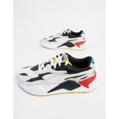 プーマ メンズ スニーカー シューズ Puma RS-X3 sneakers in white and black Puma white-puma blac