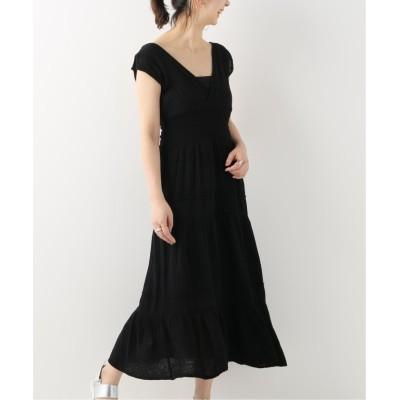 【スピック&スパン】  Smocked Dress レディース ブラック フリー Spick & Span
