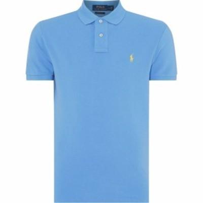 ラルフ ローレン Polo Ralph Lauren メンズ ポロシャツ トップス Custom Slim Fit Polo Harbour Blue