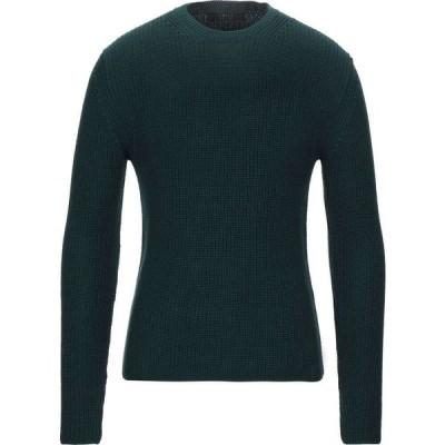 ブイネック VNECK メンズ ニット・セーター トップス sweater Dark green