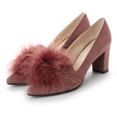 アンタイトル シューズ UNTITLED shoes モチーフパンプス (ピンクヌバック)