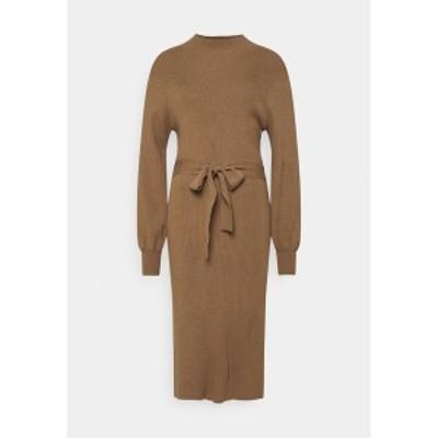 モス コペンハーゲン レディース ワンピース トップス MALLORY LIKE DRESS - Jumper dress - dark brown dark brown