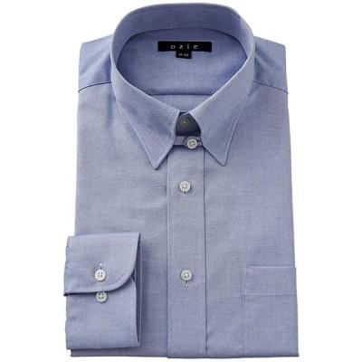 (オジエ) ozie ワイシャツ メンズ ドレスシャツ タイトフィット プレミアムコットン 形態安定/形状記憶 タブカラー オックスフォード
